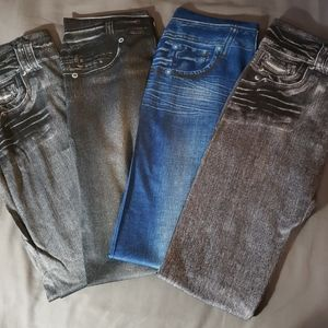 Lot of 4 Jeggings, New, size L/XL